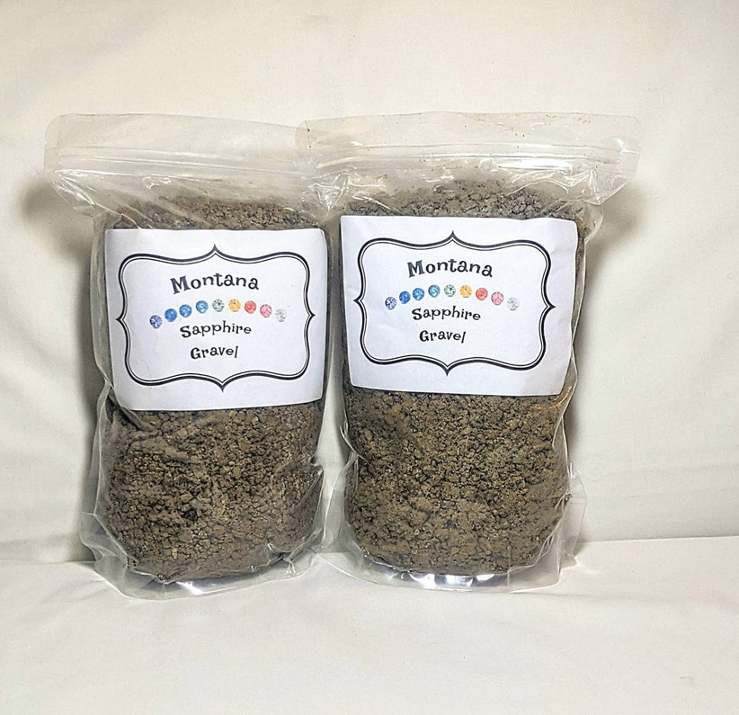 Bags of sapphire gravel traditional 45th anniversary gift