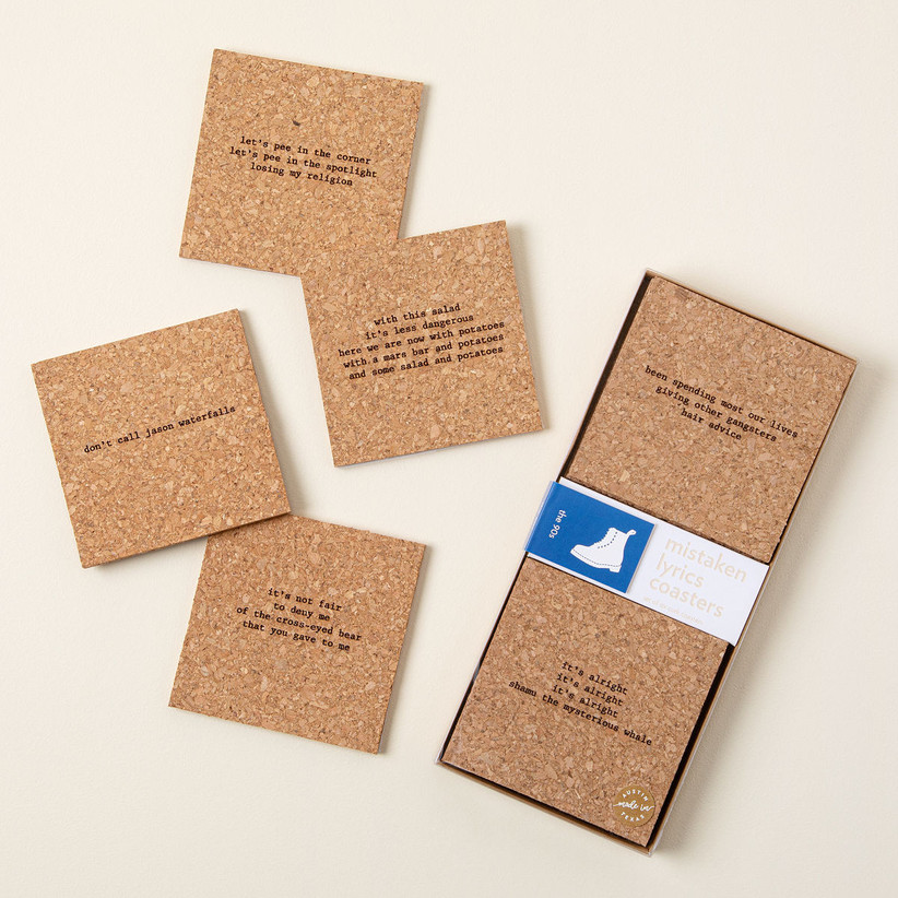 Funny cork coasters gift for sister-in-law