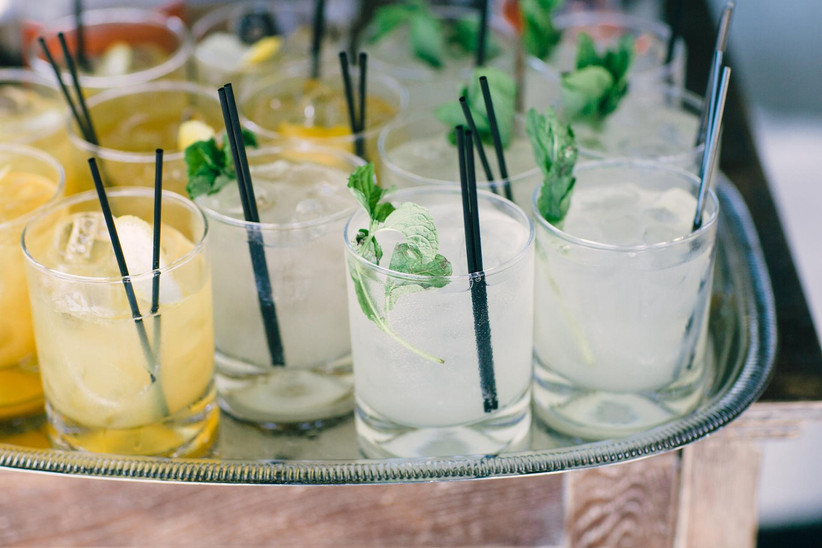 tray of cocktails