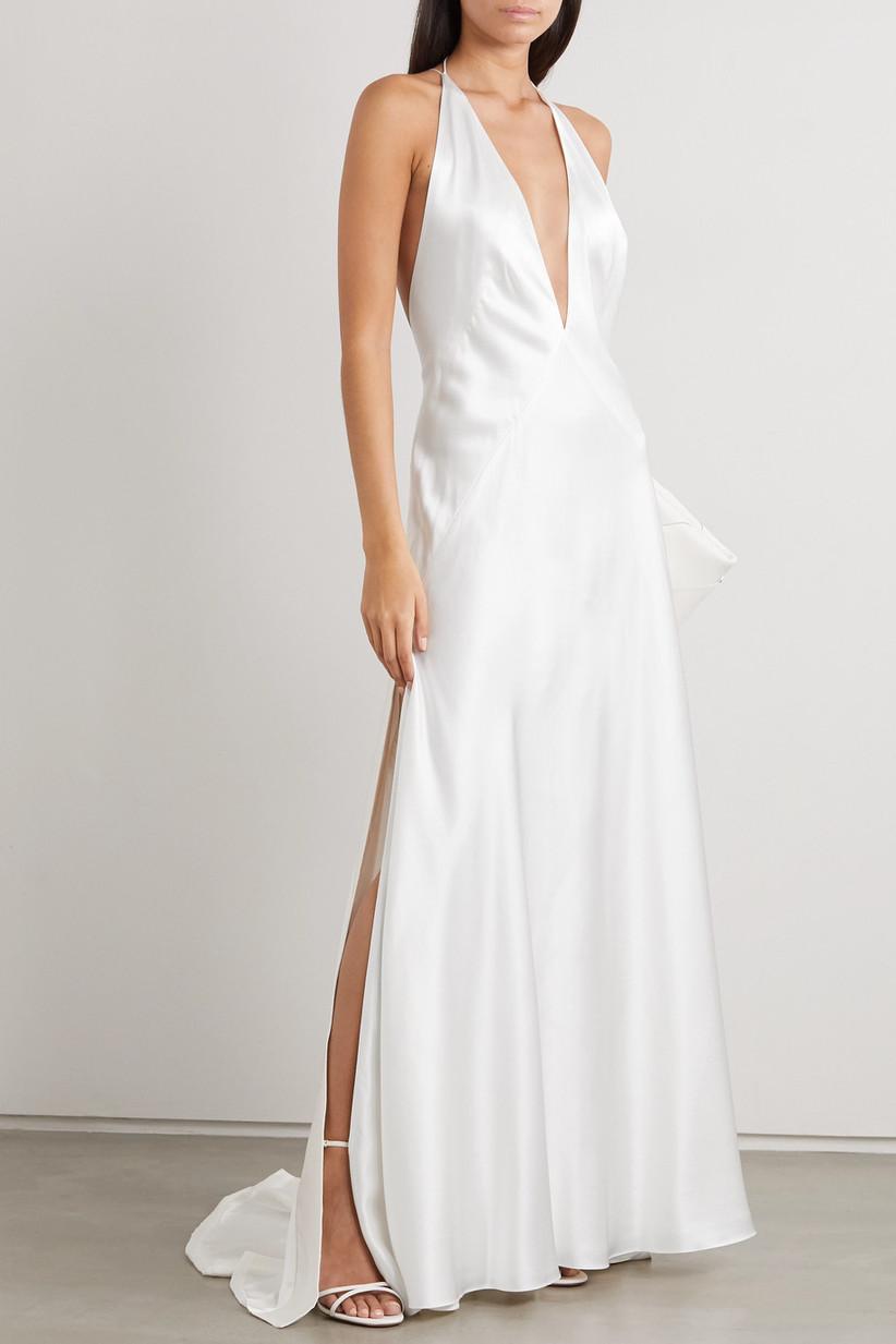 satin courthouse wedding dress