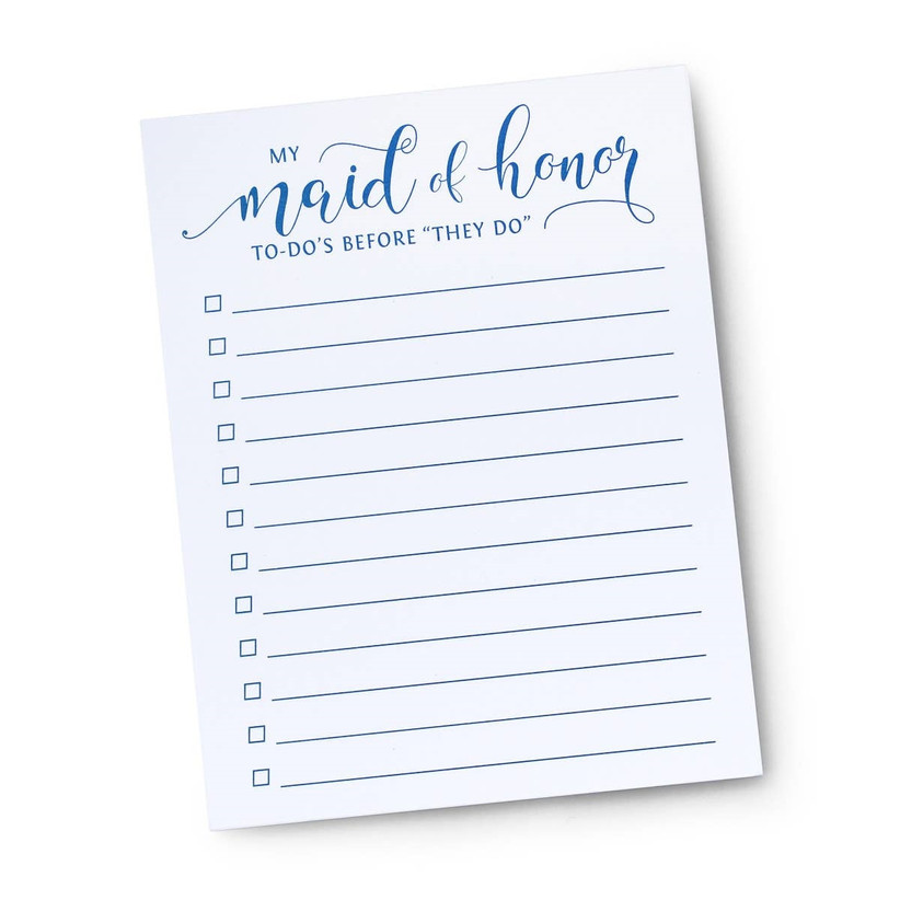 Maid of Honor to-do list proposal gift idea