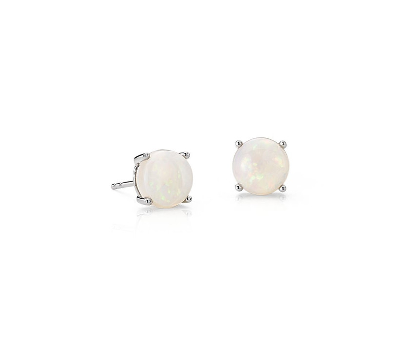 blue nile opal and white gold stud earrings for 14th year wedding anniversary gift