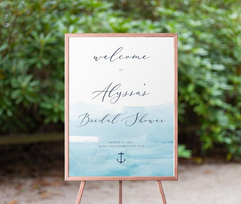 nautical bridal shower sign