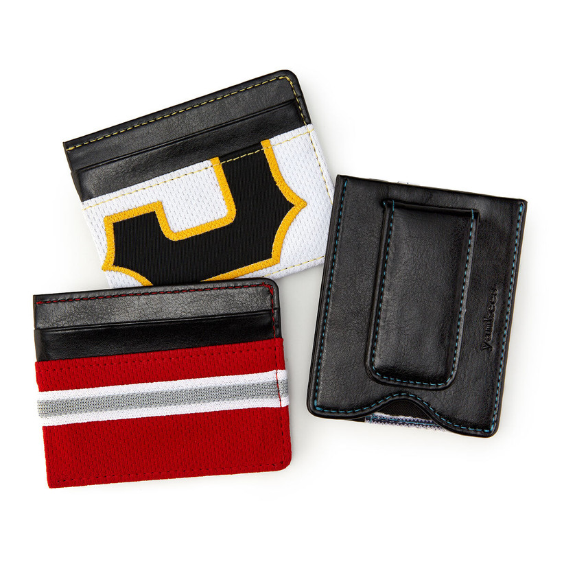 MLB game-used uniform money clip wallets