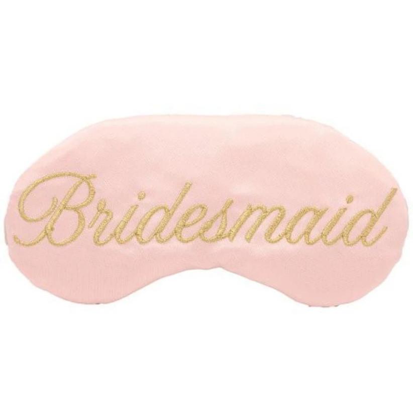 Bridesmaid sleep mask proposal box idea