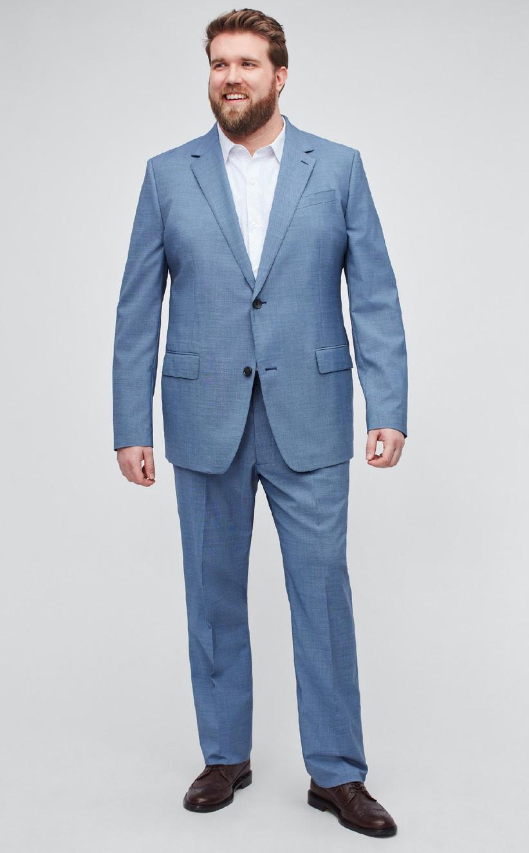 Light blue plus-size summer wedding suit