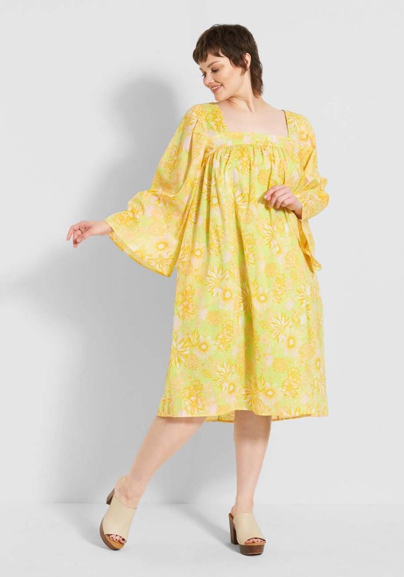 Retro yellow Modcloth dress