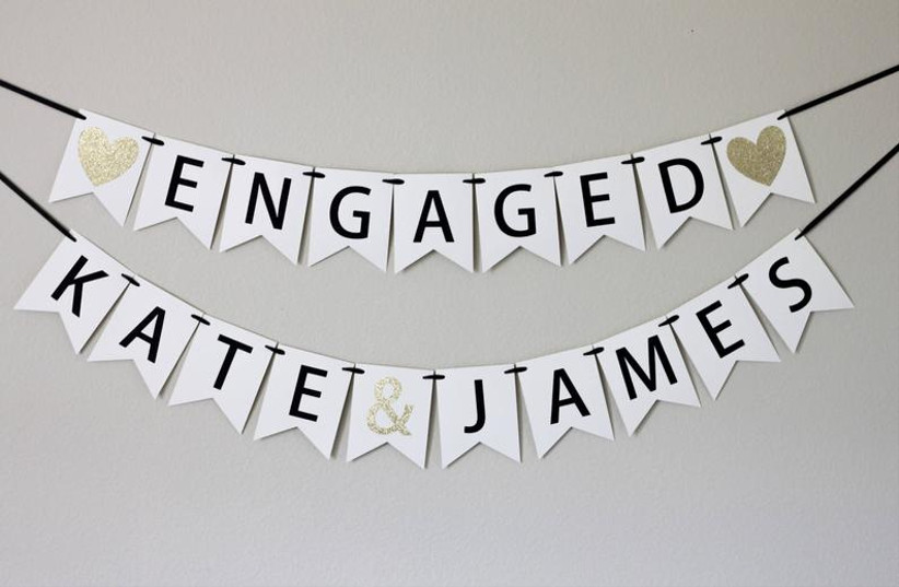 engagement party banner