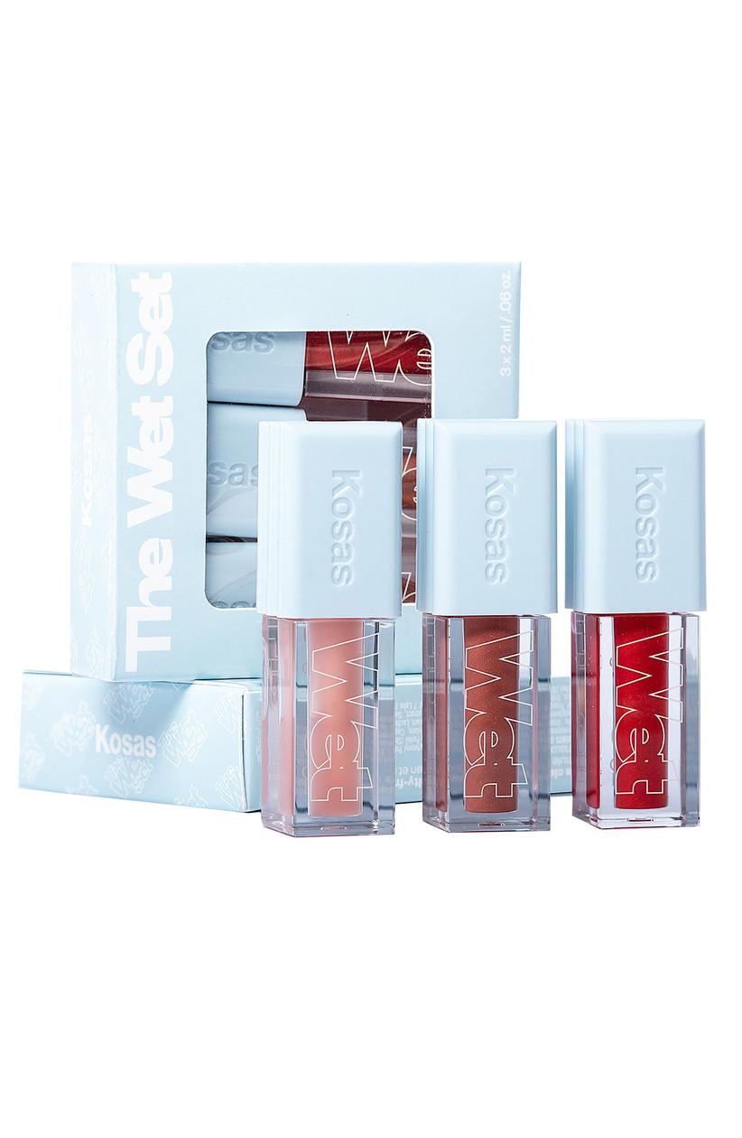 Set of three mini lip glosses