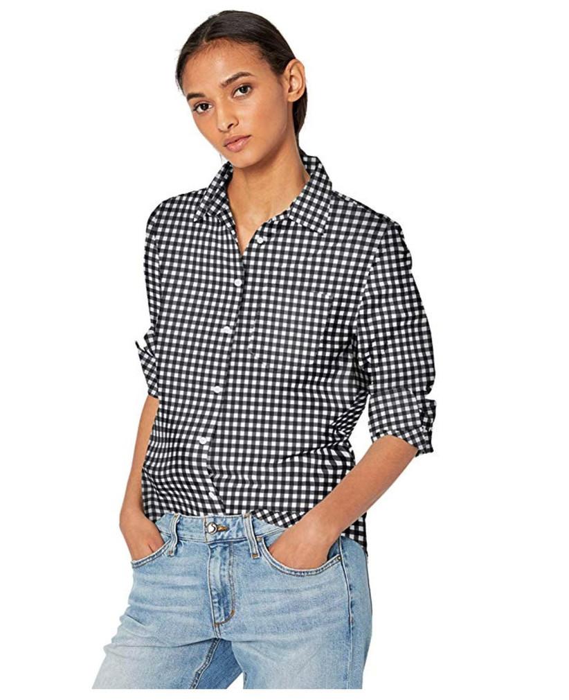 amazon essentials gingham shirts