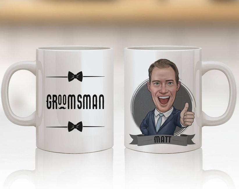 Custom groomsman proposal coffee mug