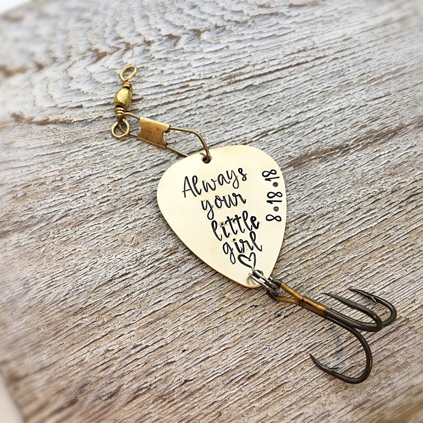 Always Your Little Girl fishing lure father of the bride gift