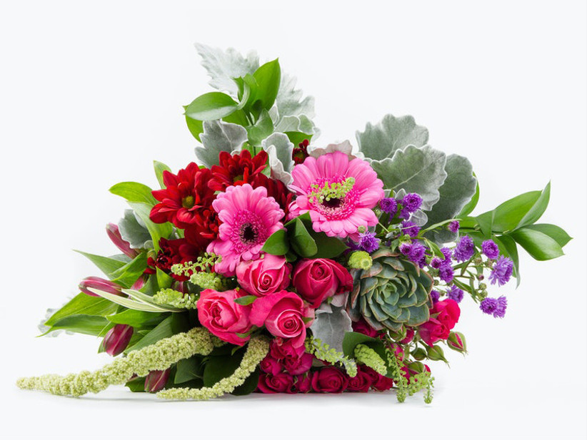 Colorful bouquet thank-you gift for wedding vendor
