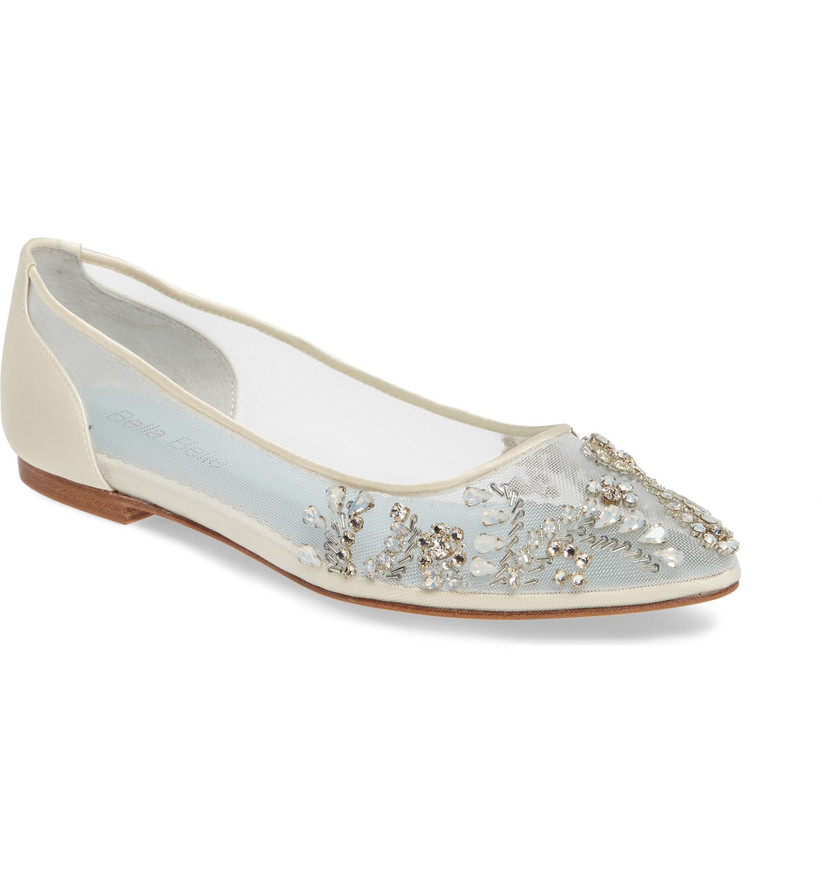 Wedding Guest Shoes jeweled mesh flats