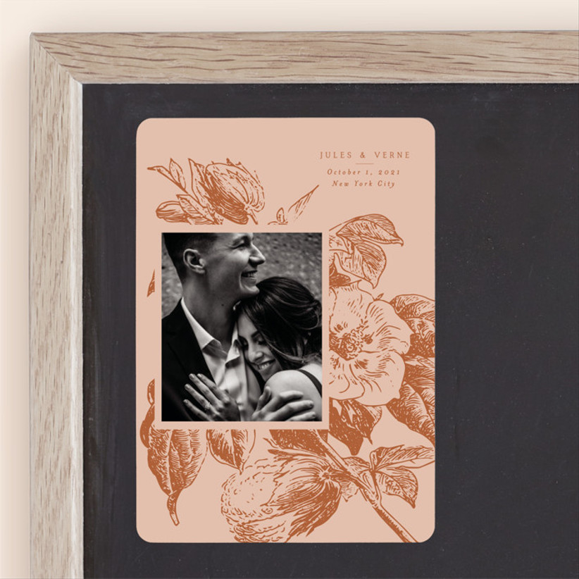 fall save the dates vintage rose colors