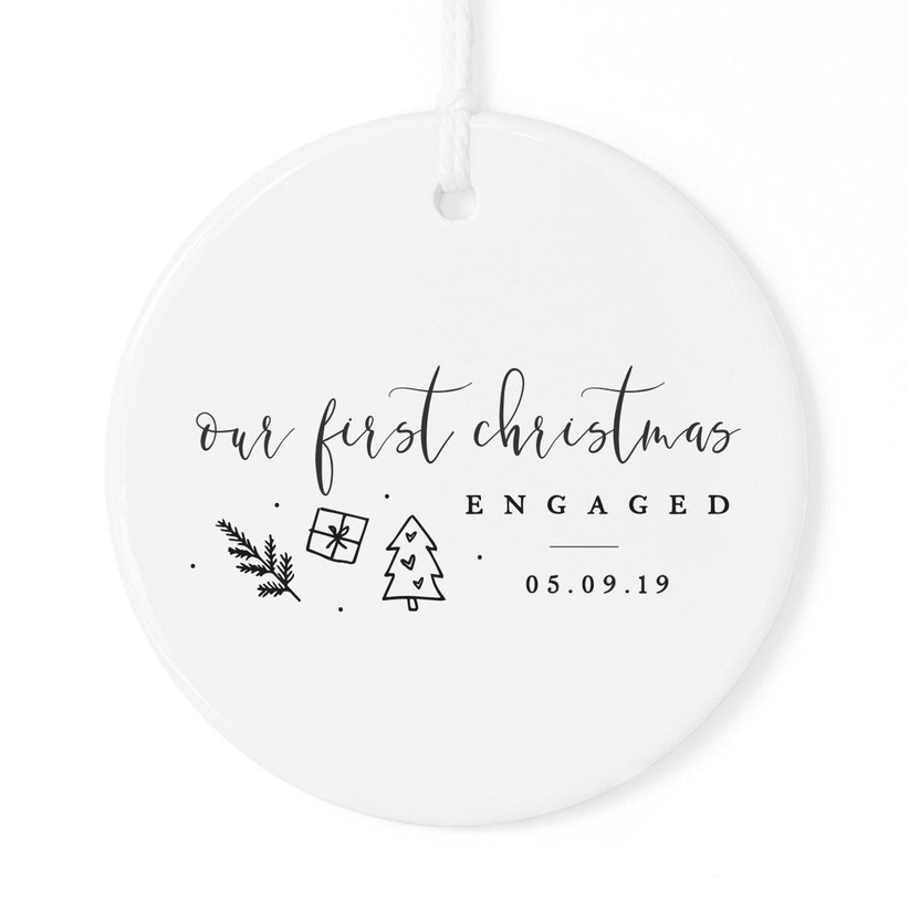 personalized engagement ornament