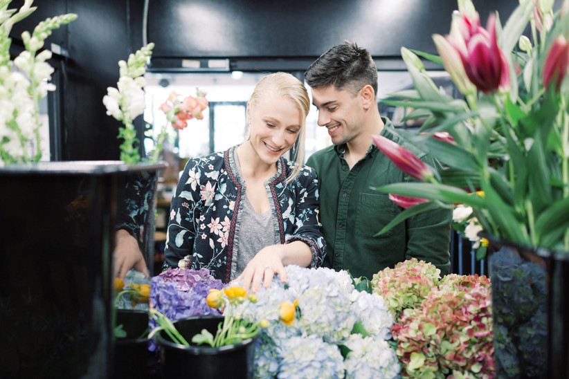wedding flower shopping