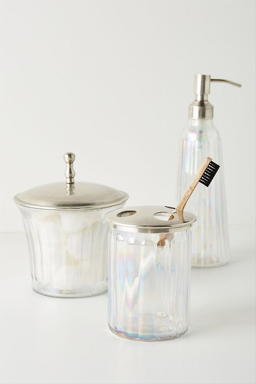 glass bathroom cannisters