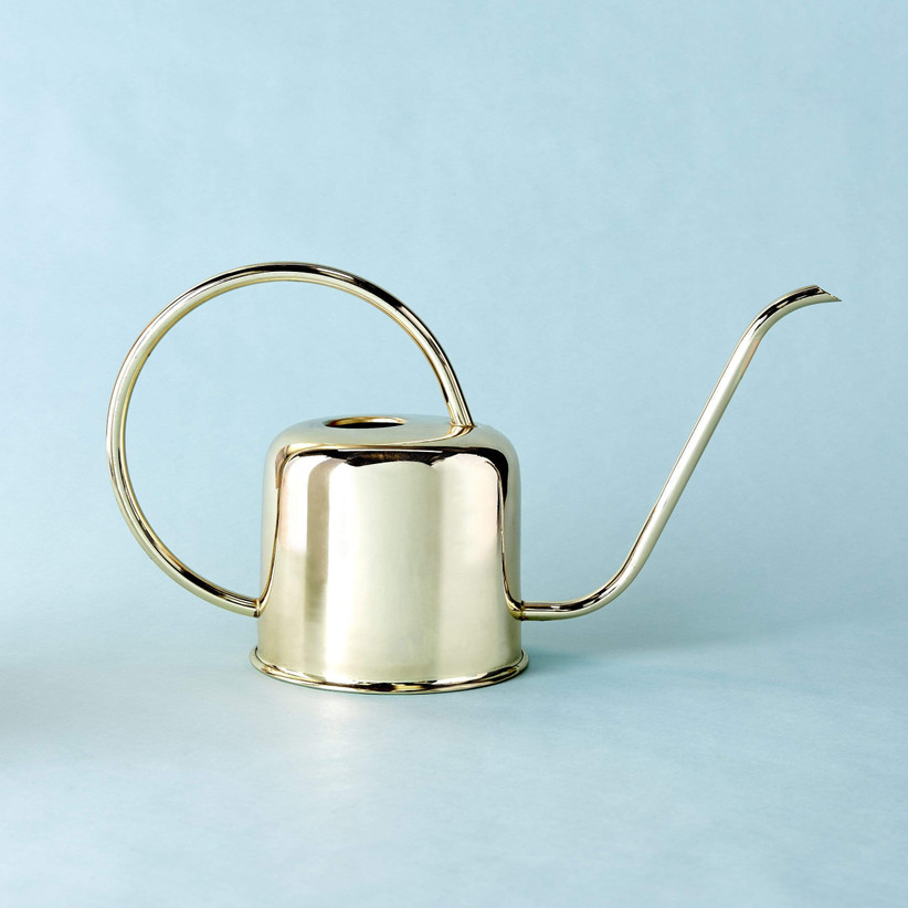 Elegant gold-plated watering can