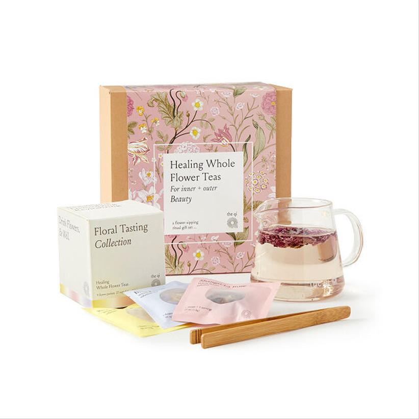 flower tea set