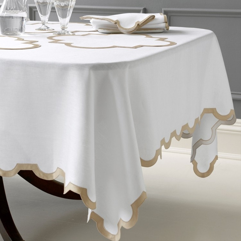 fine linens table cloth for 13th year wedding anniversary gift