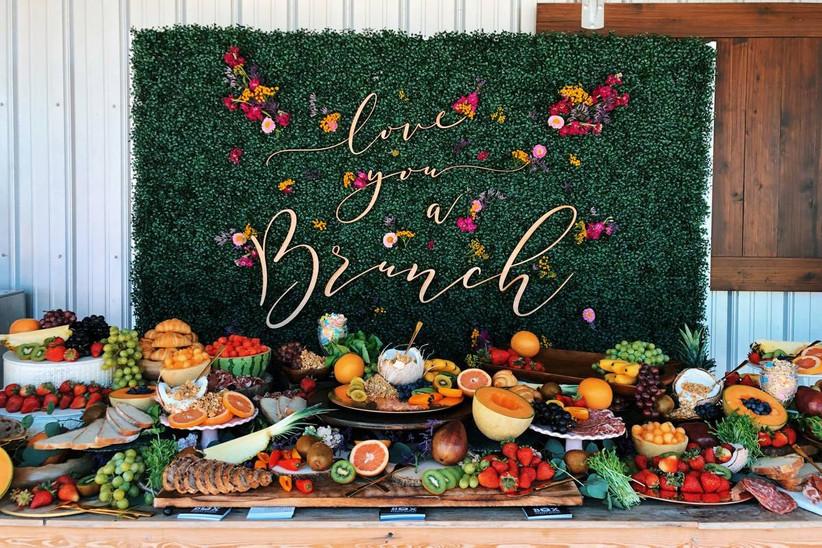 brunch buffet with love you a brunch sign