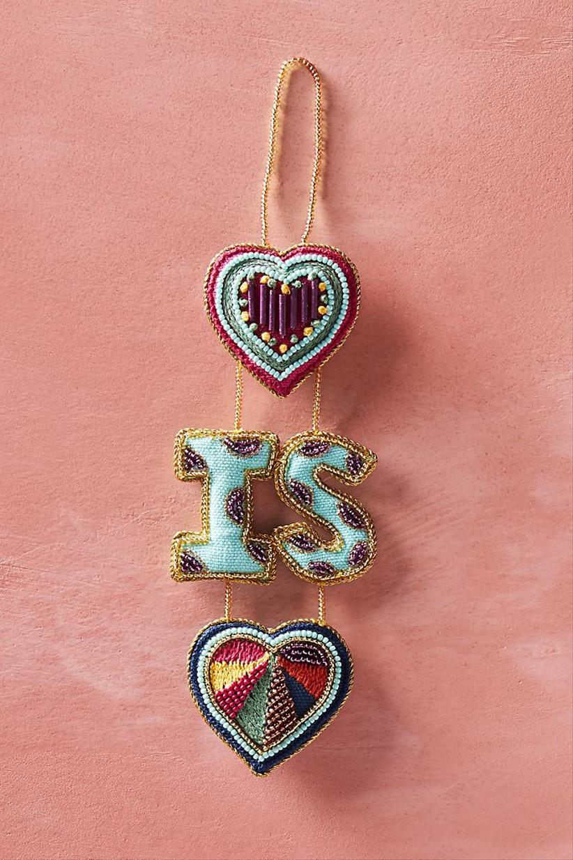 love is love wedding christmas ornament