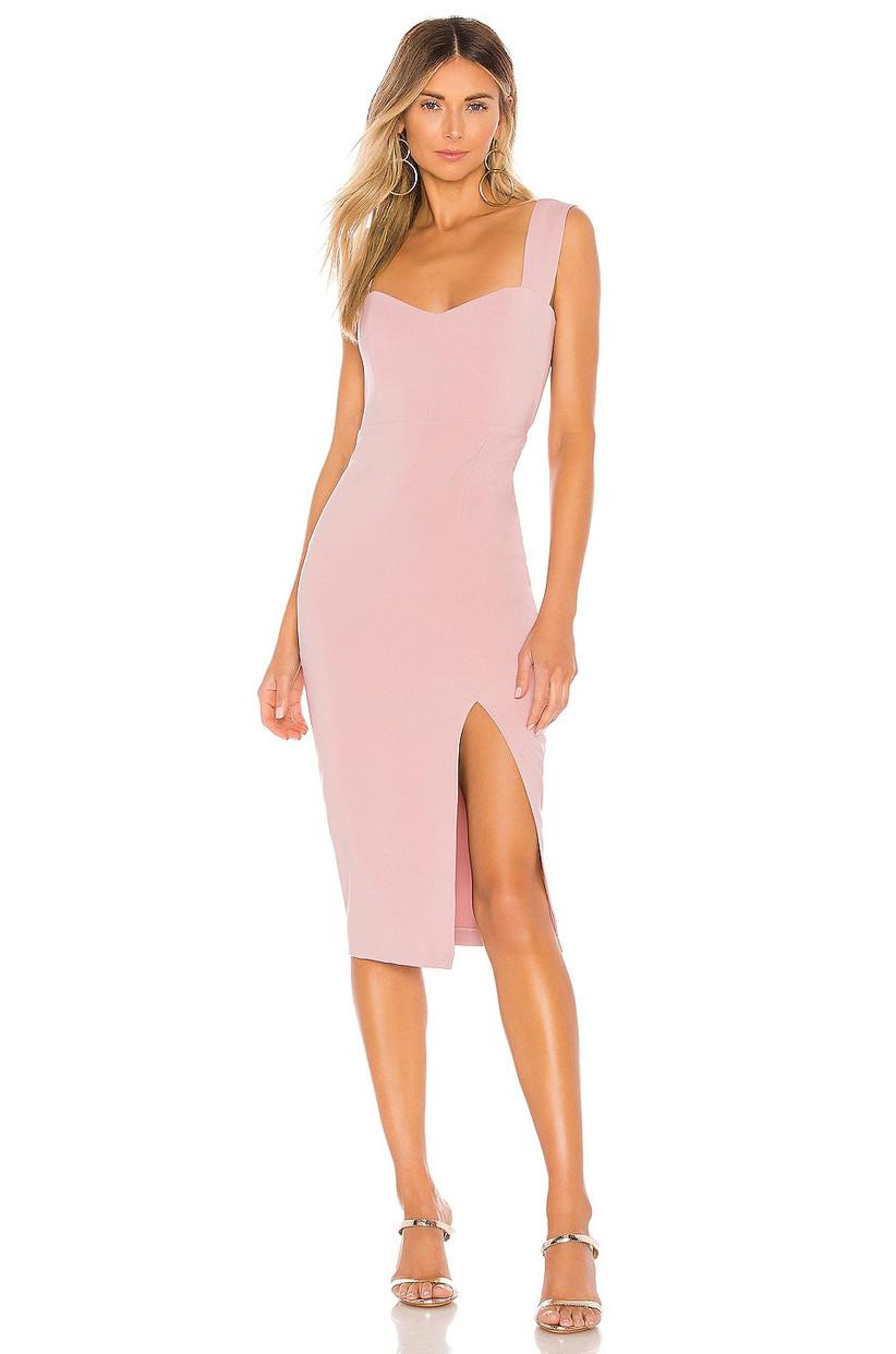 Dusty pink midi with leg slit
