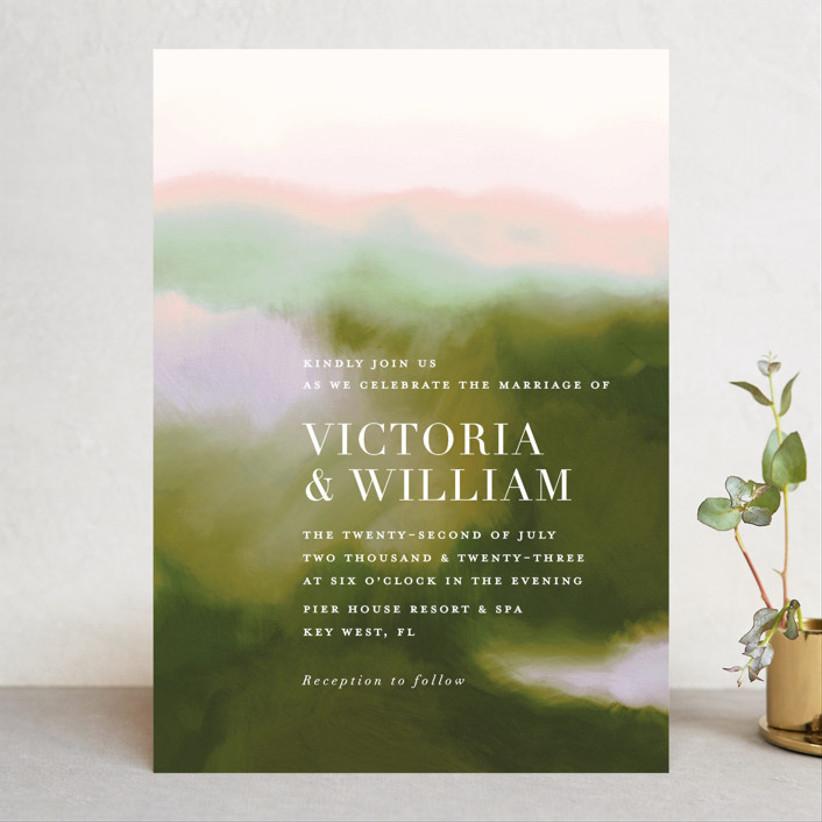 unique fall wedding invitation