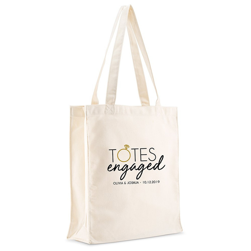 canvas tote bag engagement gift