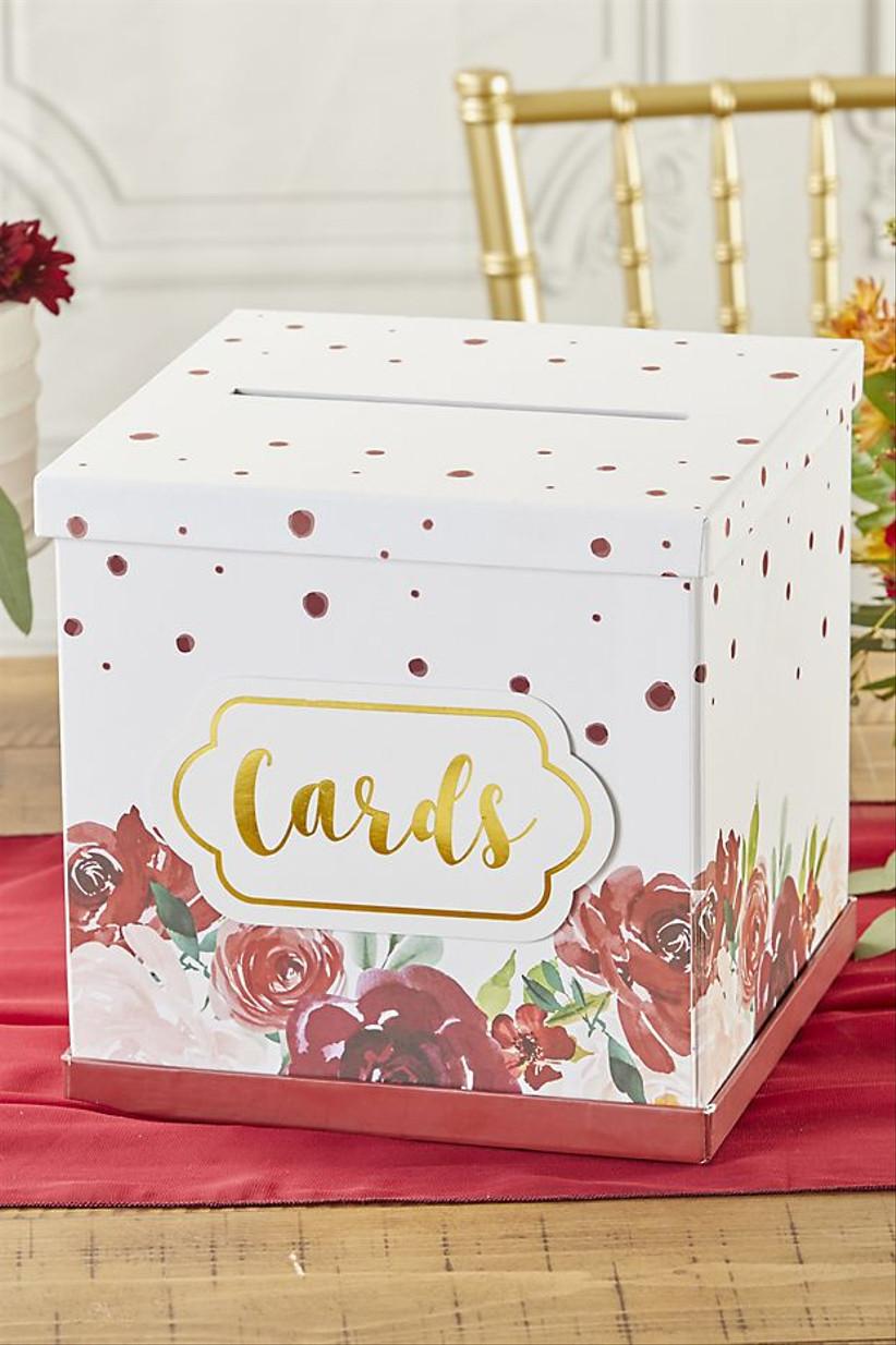 floral print wedding card box
