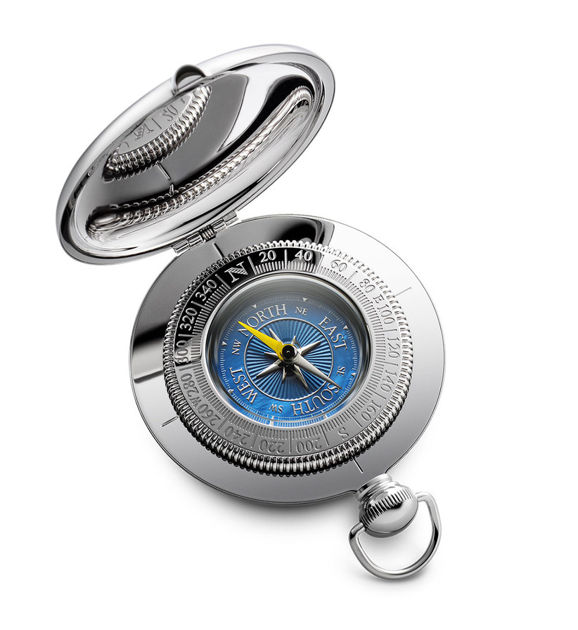 dalvey silver and blue compass for 13th year wedding anniversary gift