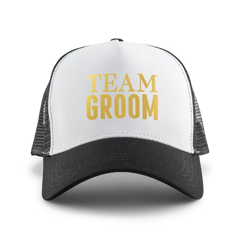 team groom caps