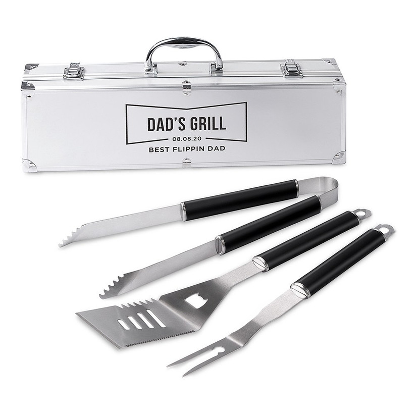Personalized BBQ tool set father of the bride gift