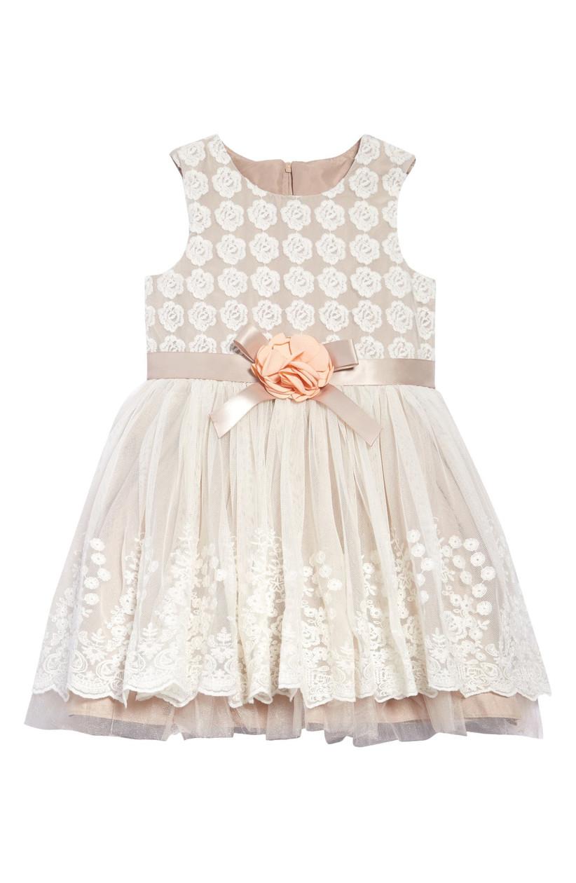 lace ivory flower girl dress