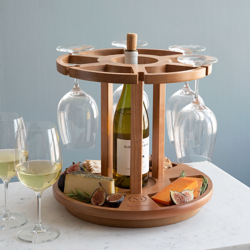 Wine and cheese carousel housewarming gift for couples