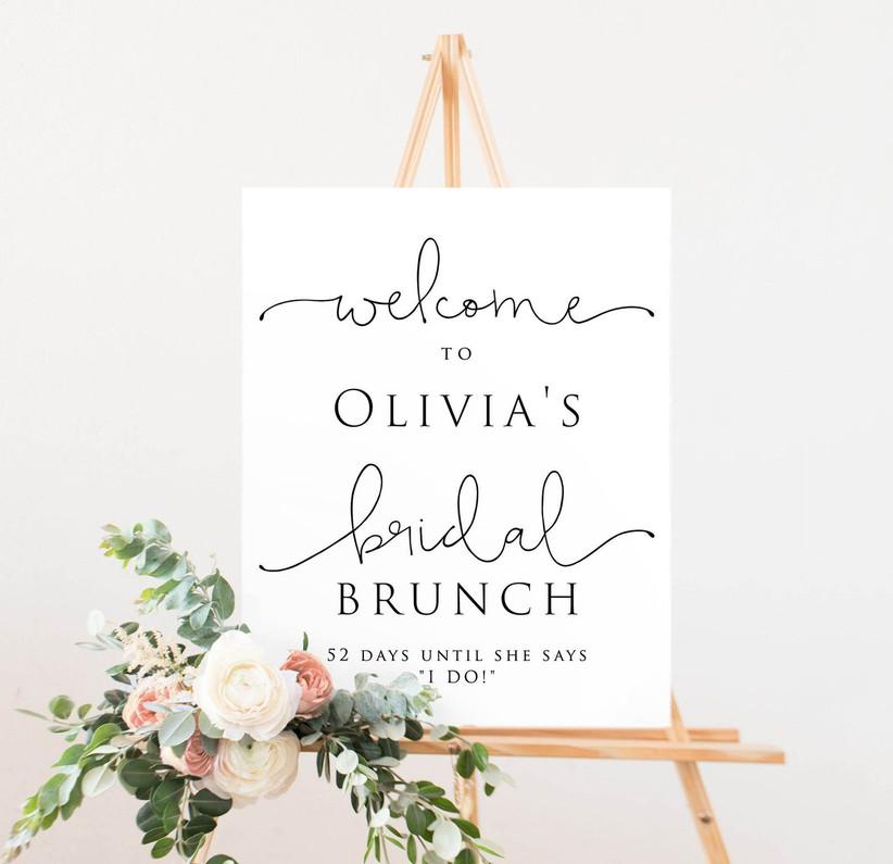 bridal brunch sign