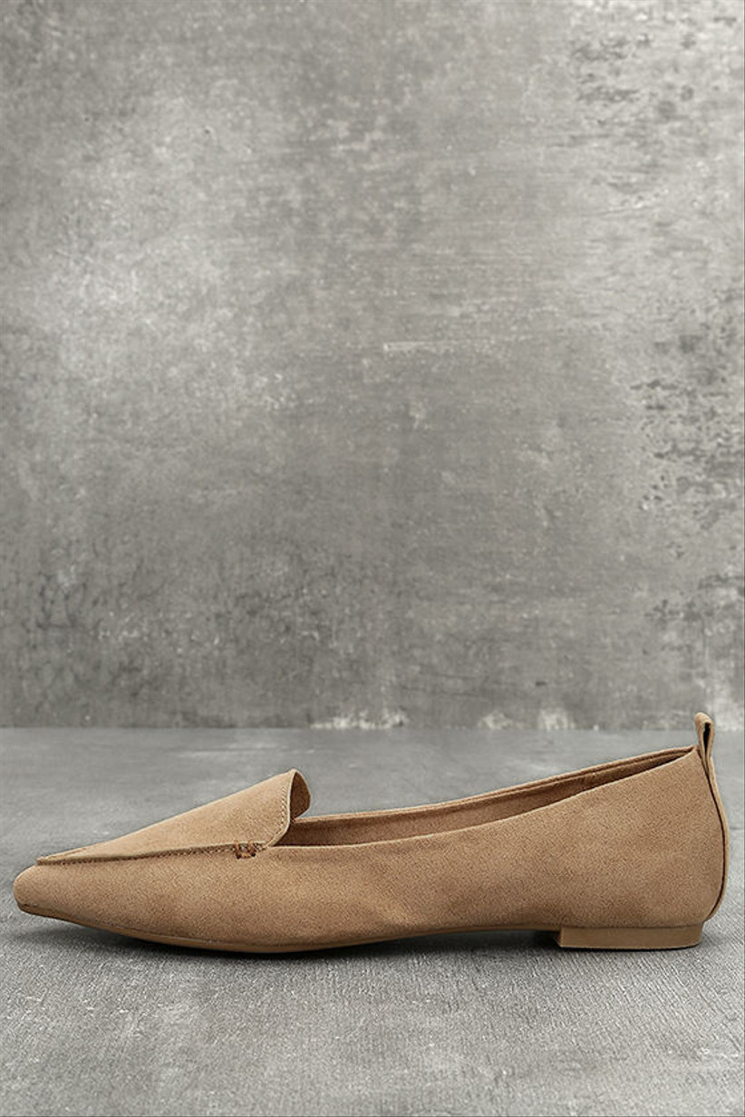 Wedding Guest Shoes nude loafers