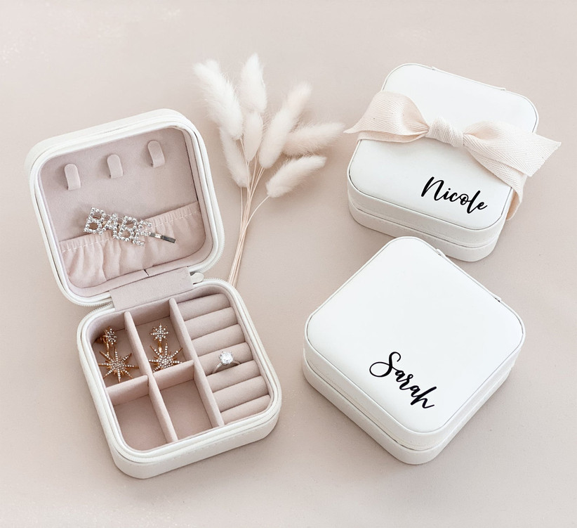 Personalized travel jewelry cases