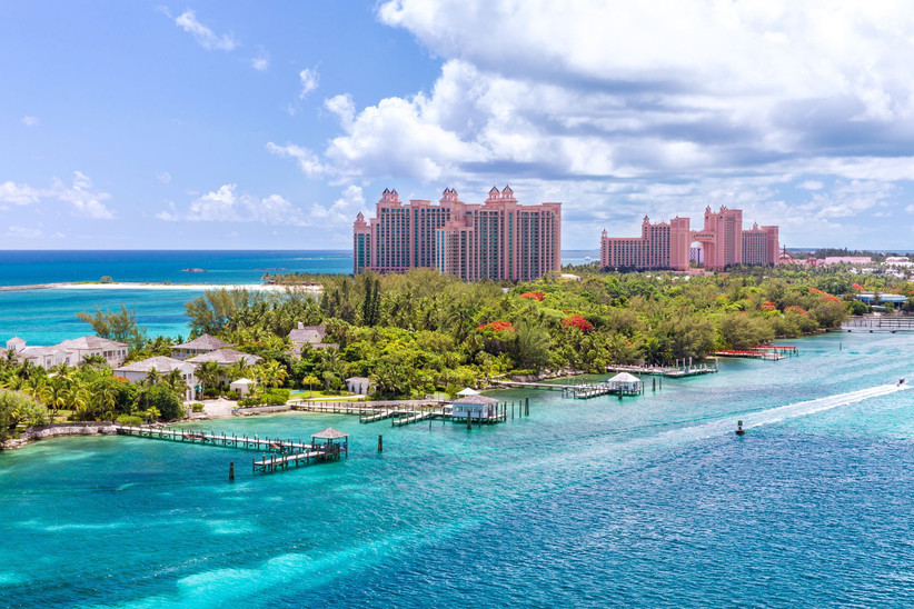 Paradise Island in the Bahamas with a view of Atlantis resort