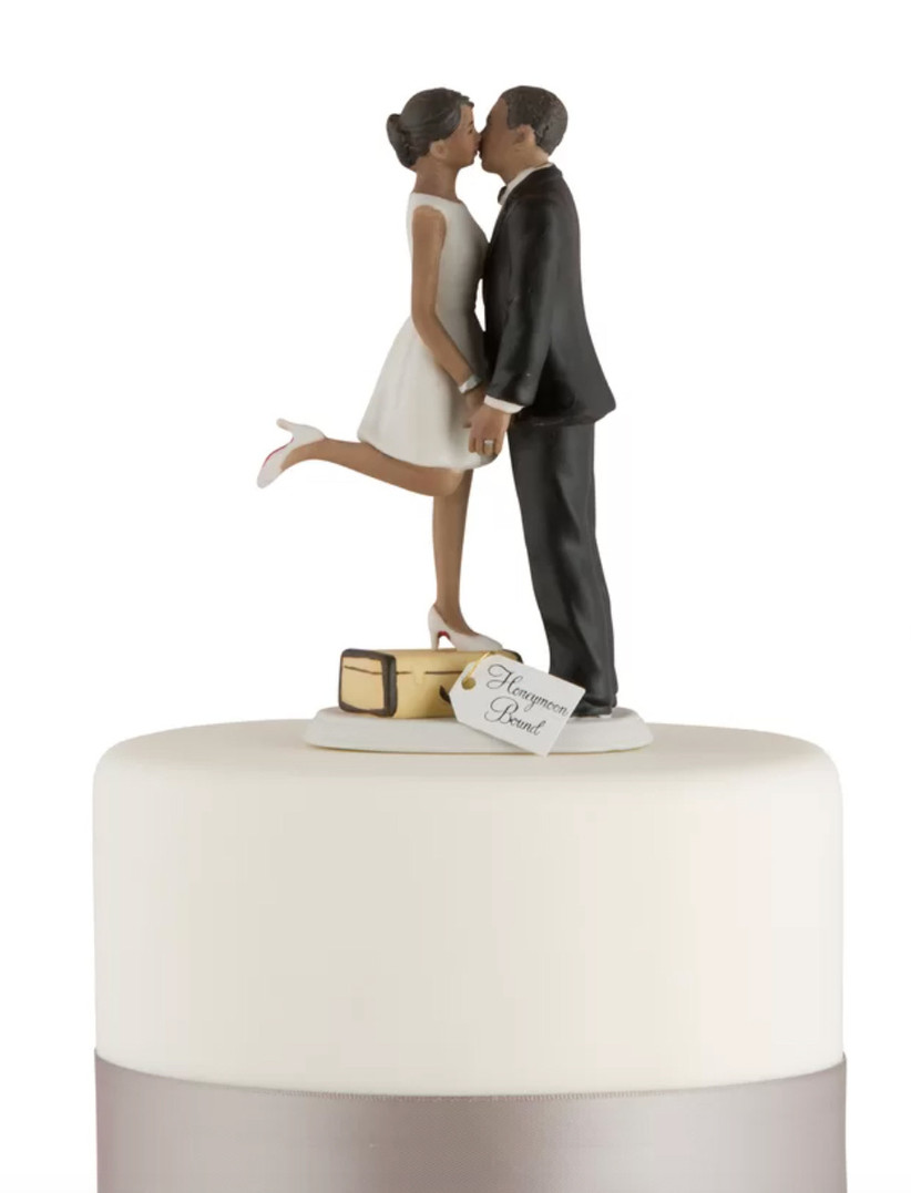 honeymoon cake topper