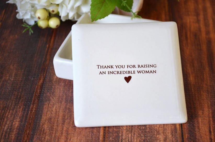 Thank You for Raising an Incredible Woman keepsake box