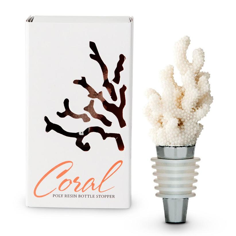 coral bottle stopper