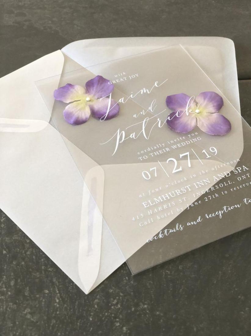 2021 wedding invitation trends pressed flowers