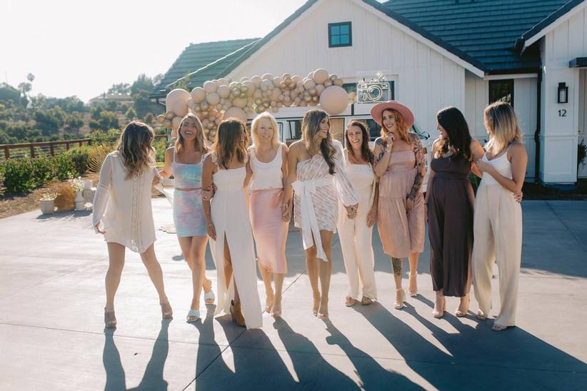 bridal party at bridal shower
