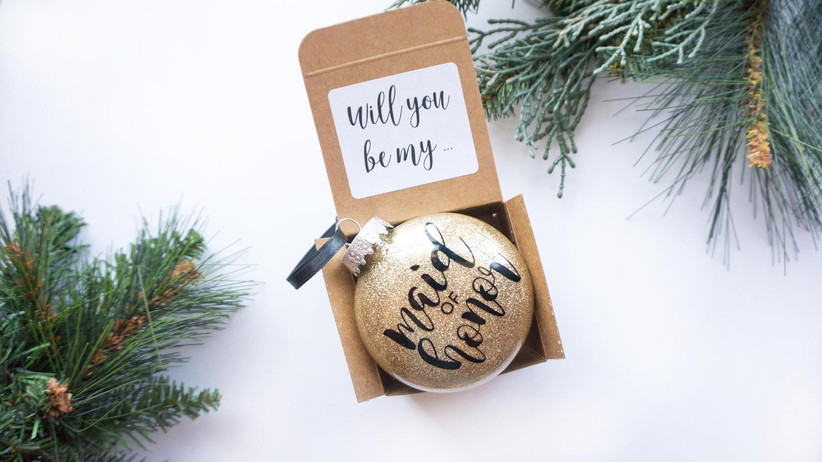 Will You Be My Maid of Honor proposal box keepsake