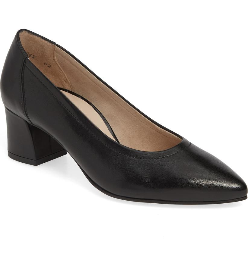 Wedding Guest Shoes black leather pump