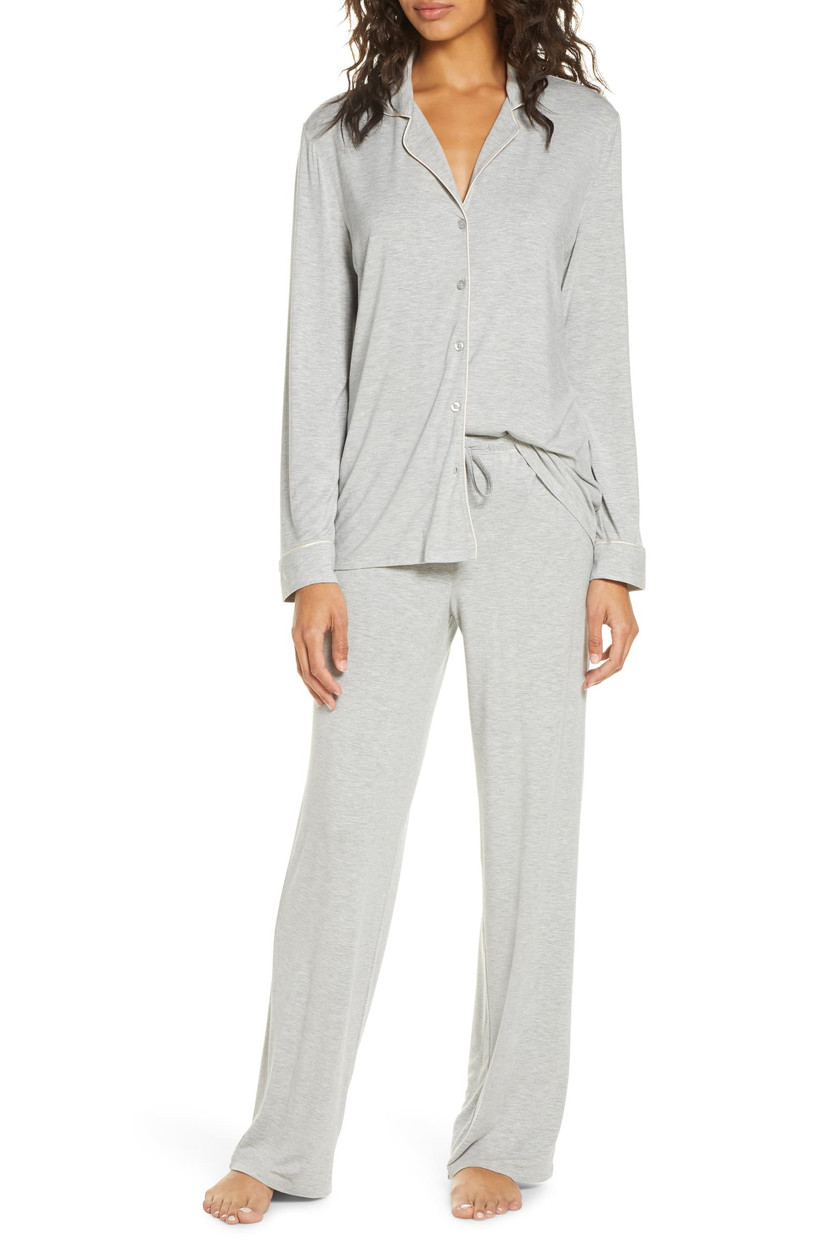 gray pajamas