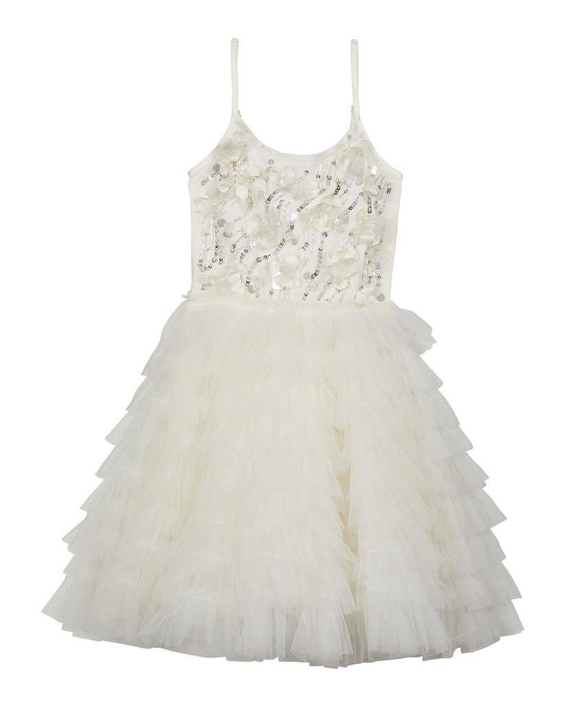 sequin bodice tulle skirt dress