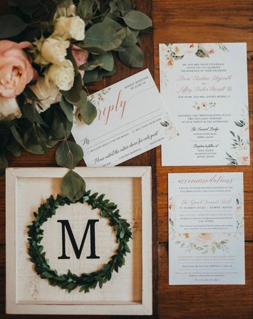 2021 wedding invitation trends retro colors